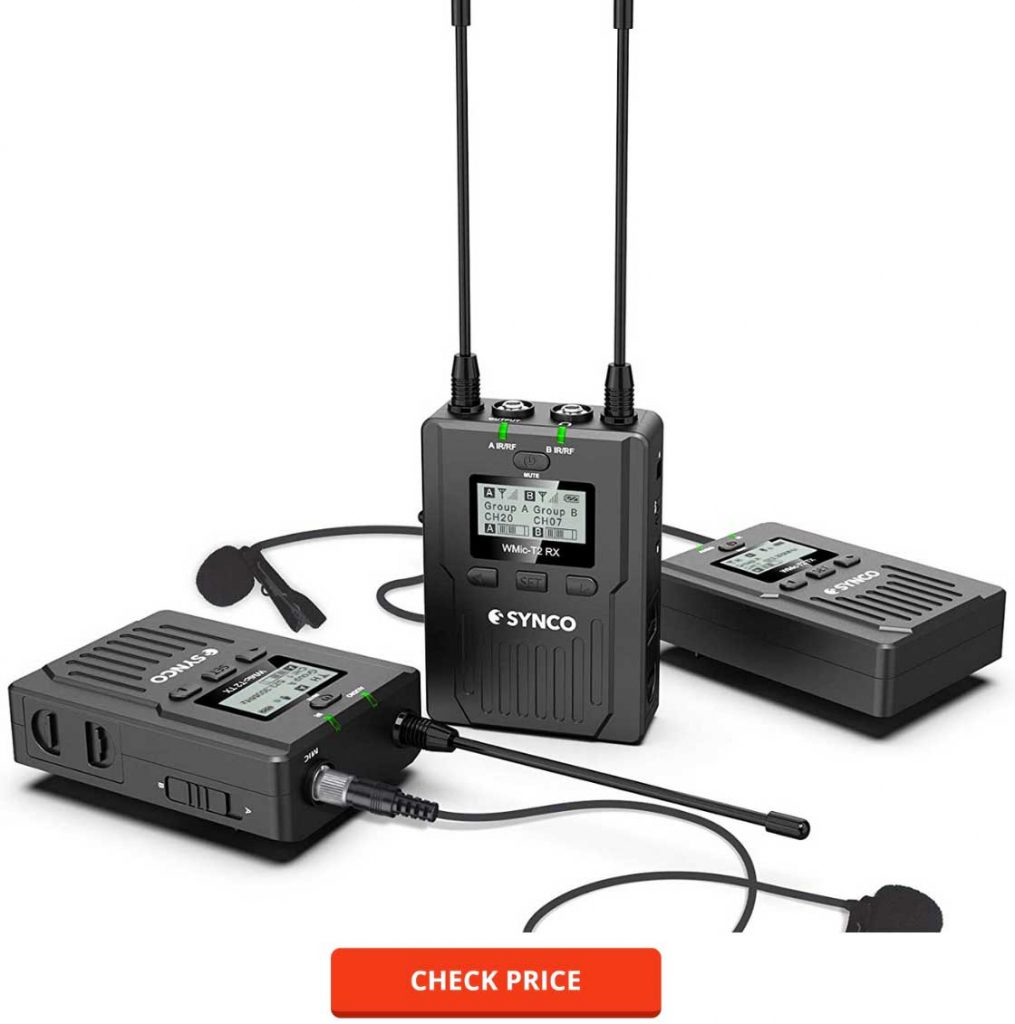 SYNCO Wireless 96-Channel UHF Mic