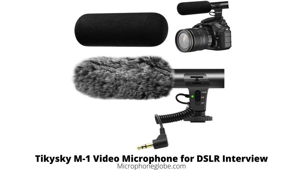 Tikysky M-1 Video Microphone for DSLR Interview