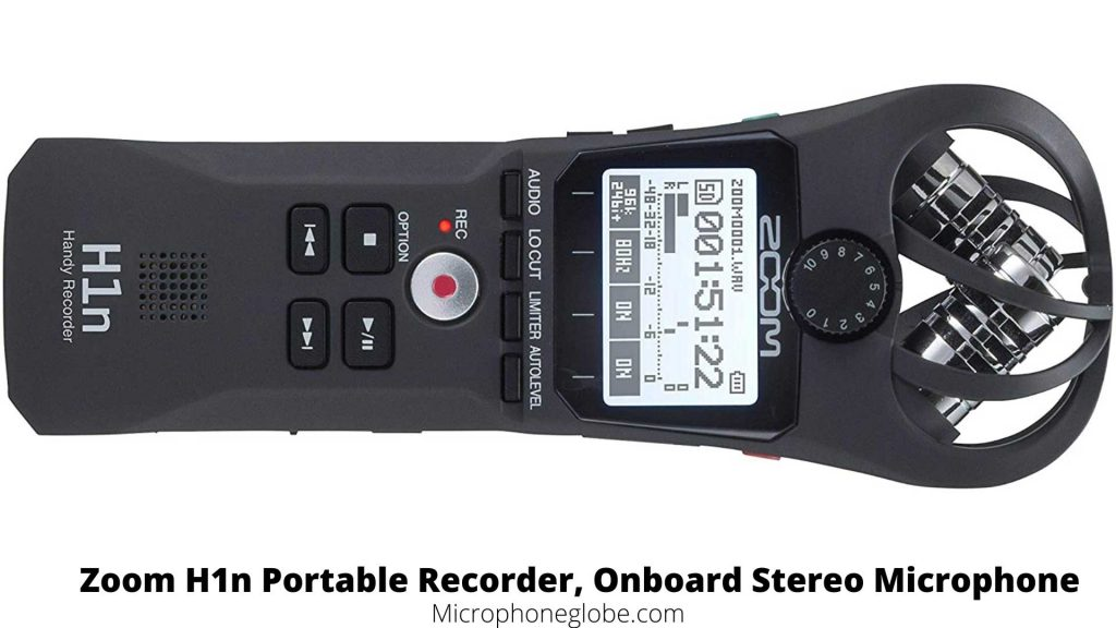Zoom H1n Portable Recorder, Onboard Stereo Microphone